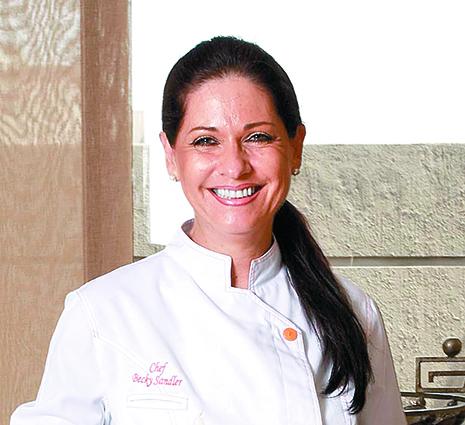 Becky Sandler y su recetario de cocina.