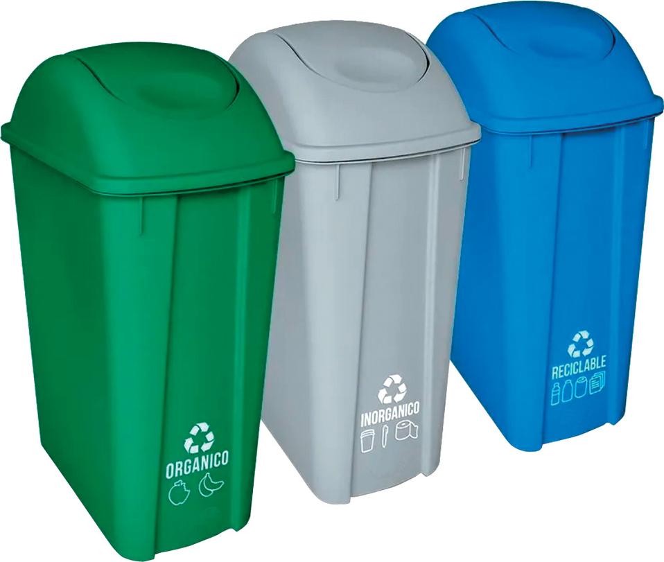 residuos plásticos reciclables