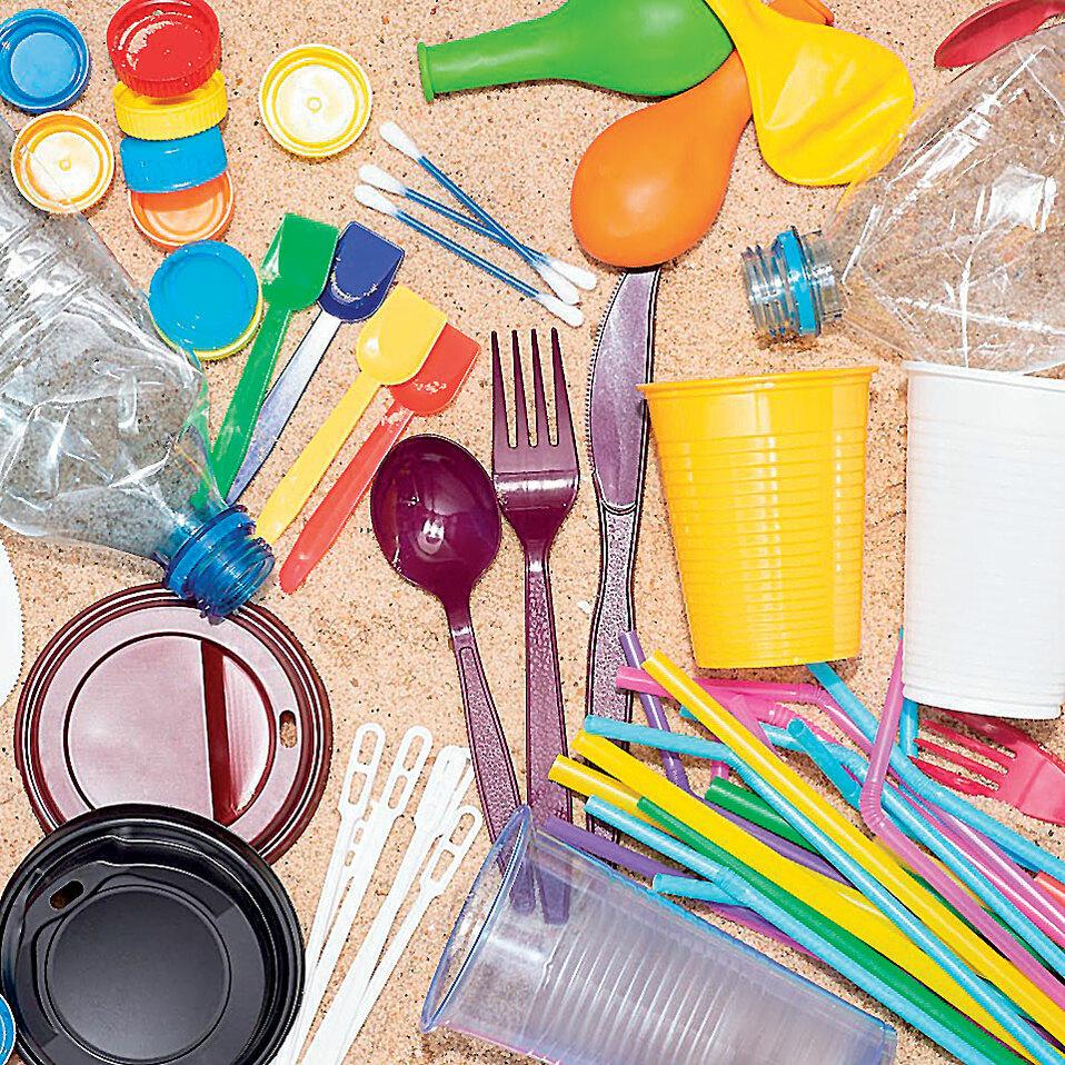 uso de plástico