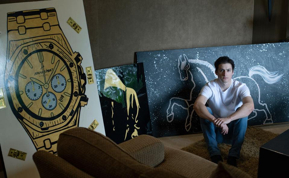 Uno de los pasatiempos de Eugenio es la pintura