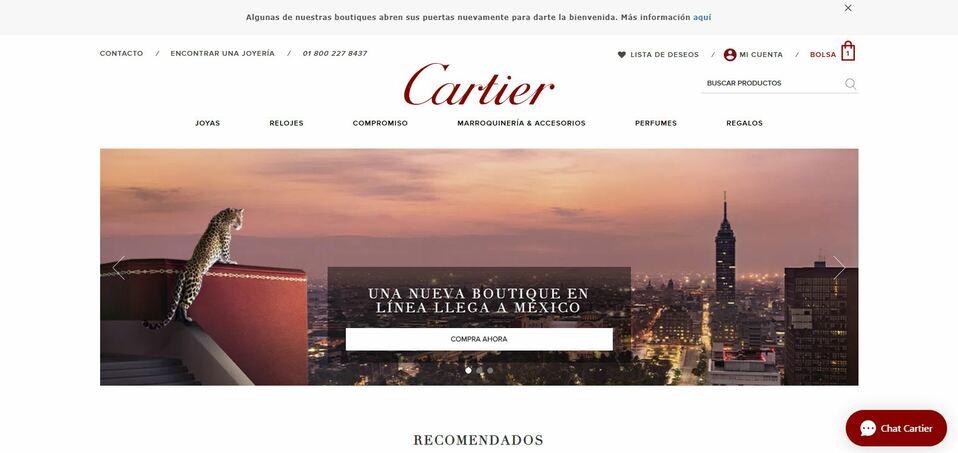 Cartier inaugura su sitio web en México