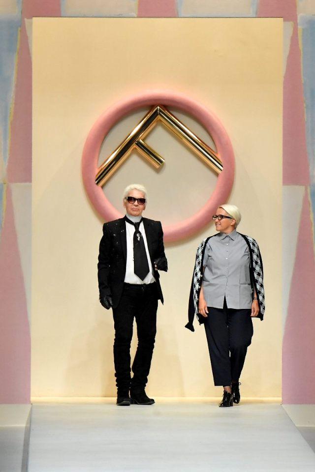 Karl Lagerfeld y Silvia Venturini