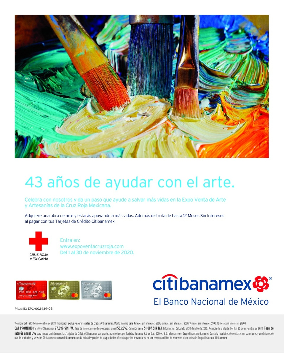 Expo Venta  de Arte y Artesanías de la Cruz Roja Mexicana