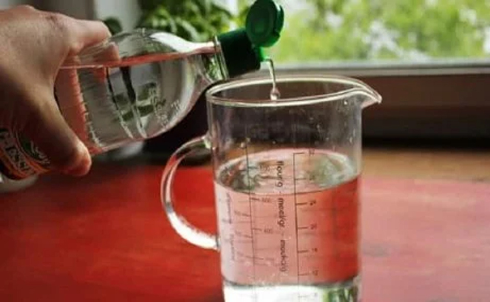 vinagre y agua