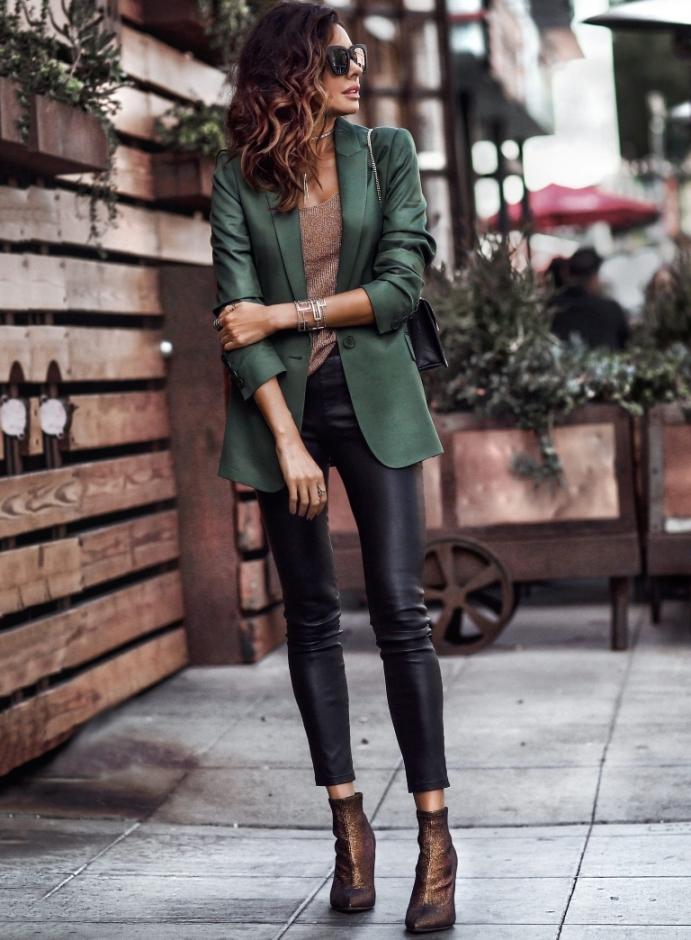 Pantalones Y Leggins De Cuero Cinco Ideas De Outfit