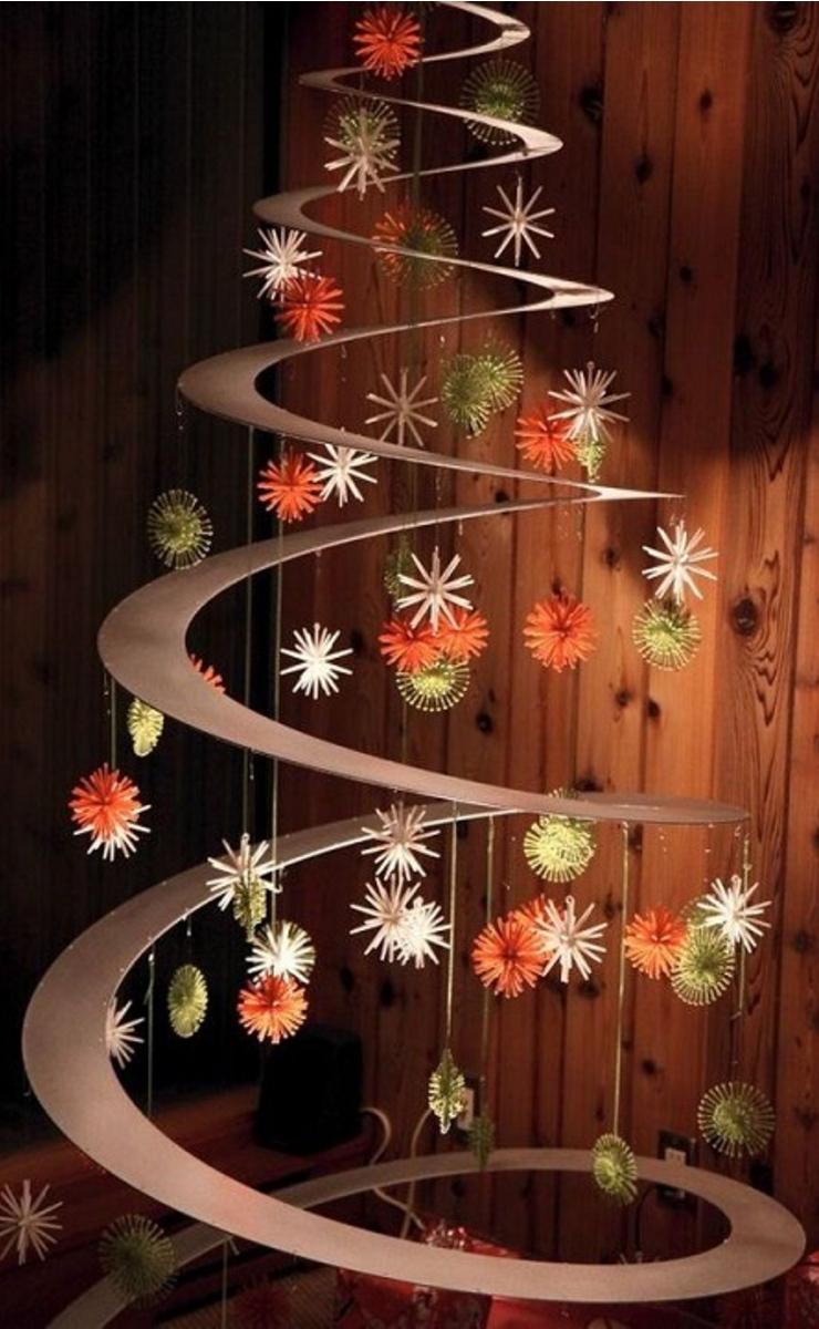 Árbol de Navidad con espiral