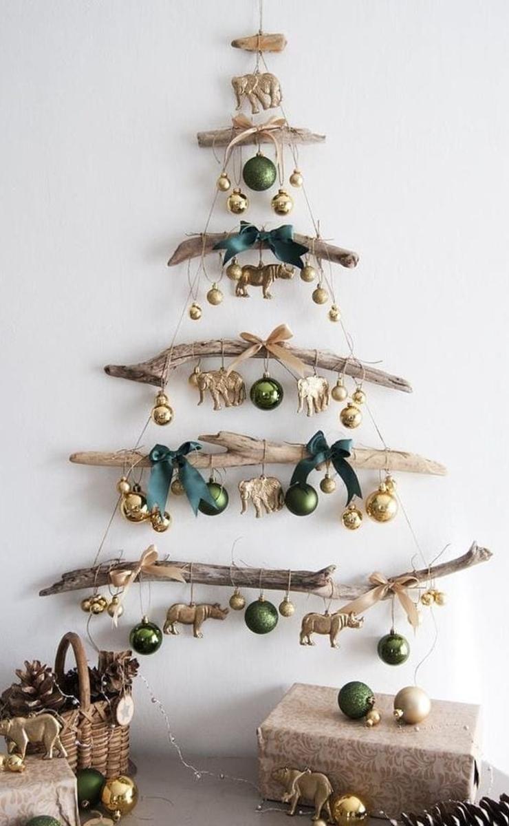 Árbol de Navidad con estilo rústico