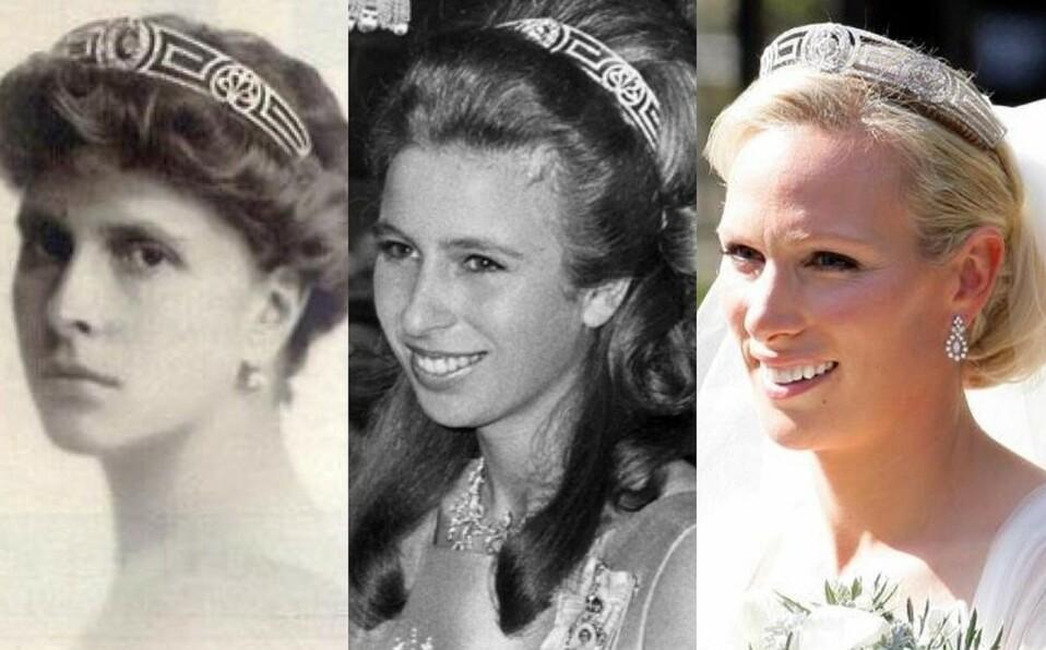 Zara utilizó una tiara de su bisabuela