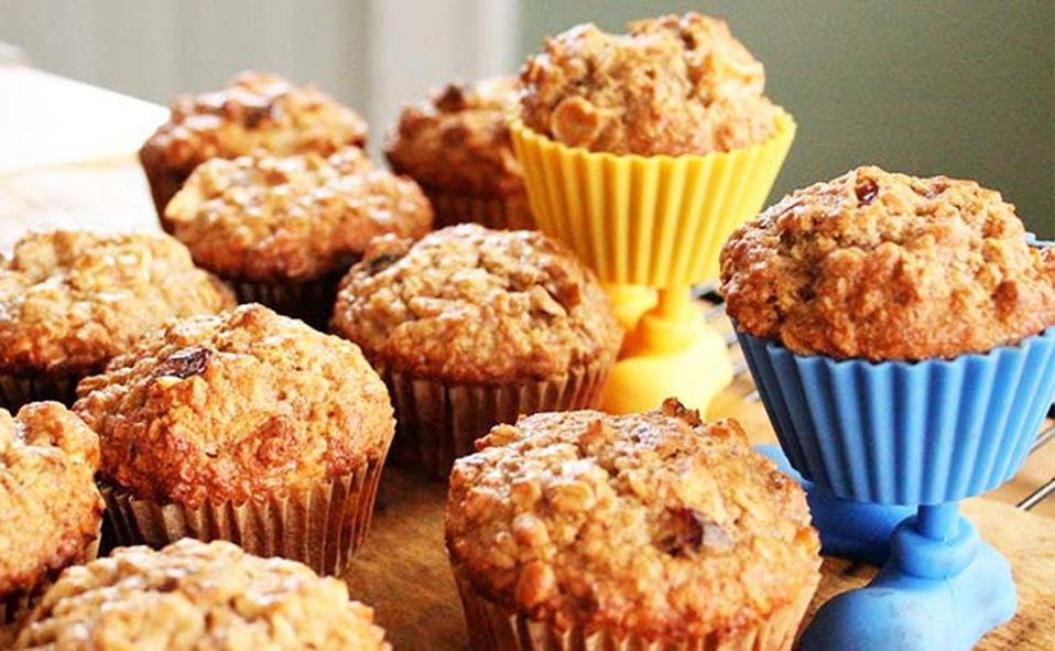 Cupcakes de manzana y plátano